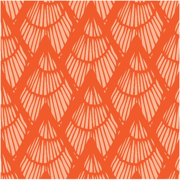 Fabric 3036 | Lapices-persimmon