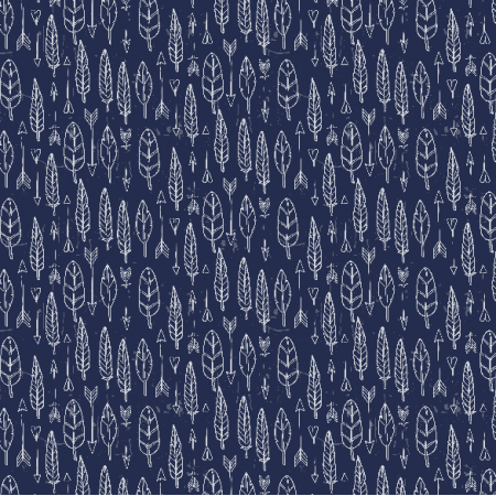 Fabric 3062 | feathers and arrows
