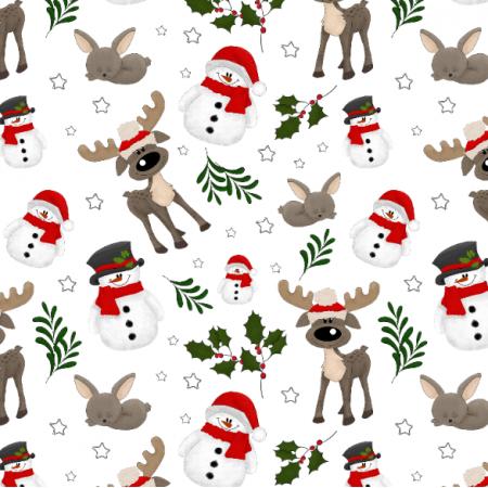 29696 | Boże Narodzenie - Bałwanki białe