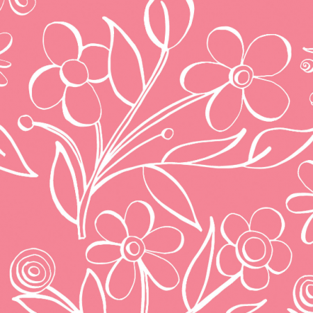 Fabric 483 | floral tile