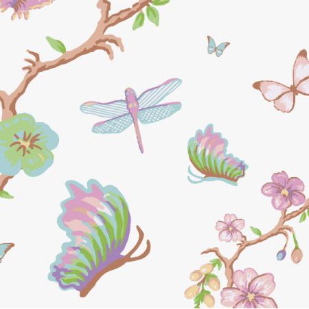 Tkanina 3118 | blossoms and butterflies