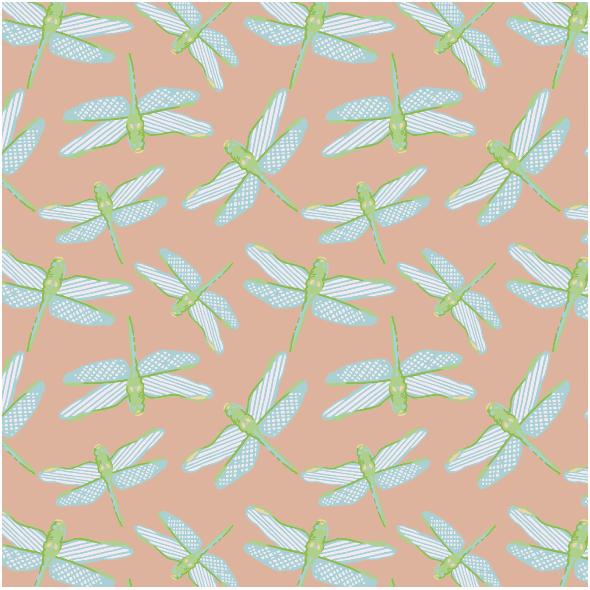 Tkanina 3120 | dragonflies