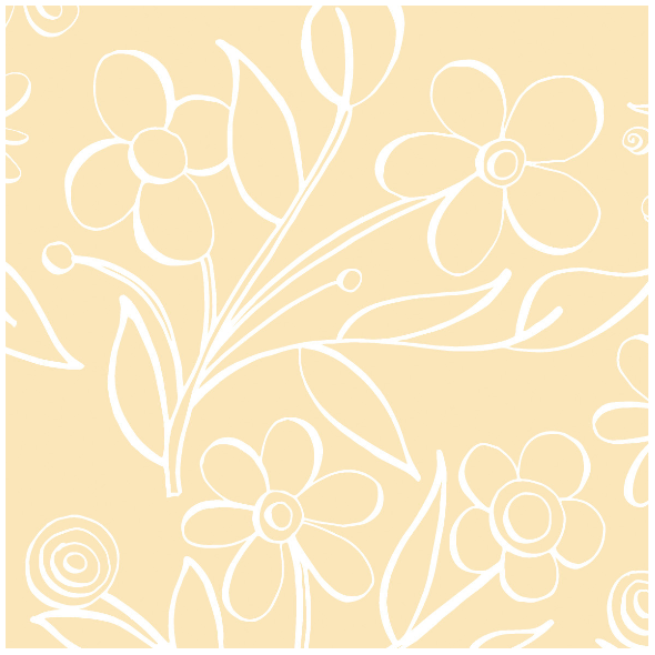 485 | floral tile in butter