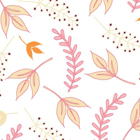 Fabric 487 | pretty leaves