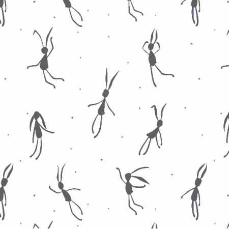 Fabric 3151 | Szare zające