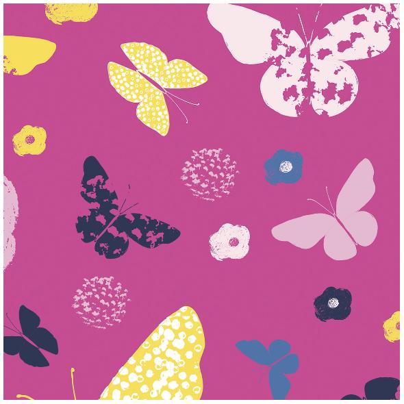 Fabric 492 | butterfly garden