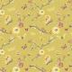 Tkanina 3195 | japanese garden, yellow