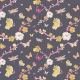Fabric 3196 | japanese garden, black