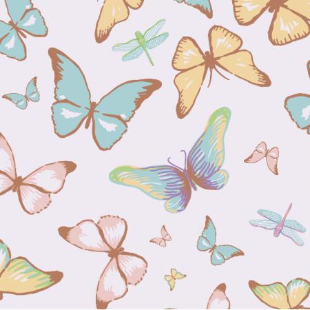 Fabric 3197 | butterflies, lilac