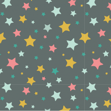 Fabric 3211 | stars, black