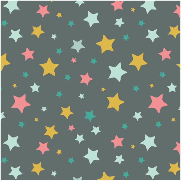 Tkanina 3211 | stars, black