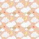Tkanina 3215   clouds, peach