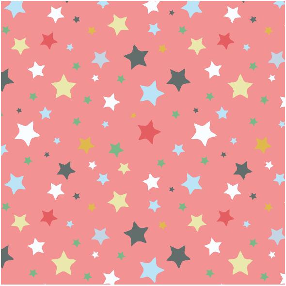 Tkanina 3216 | stars, red