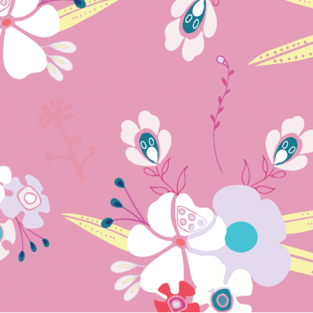 Fabric 3222 | corsage, pink