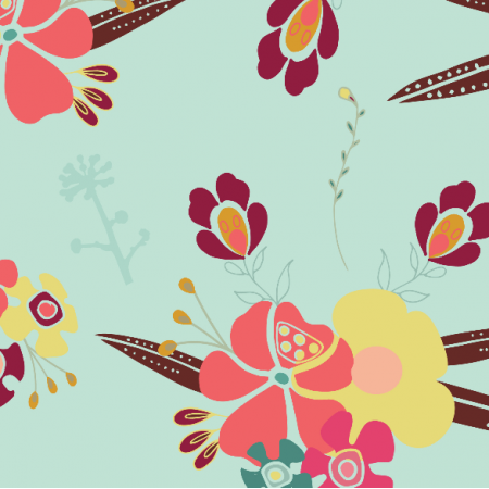 Fabric 3225 | corsage, blue