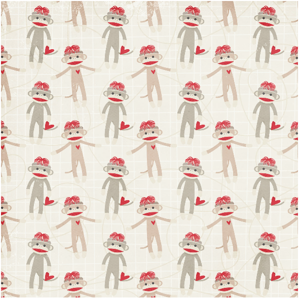 Fabric 3229 | monkey sock