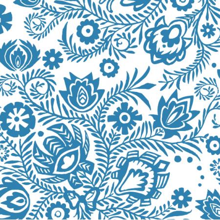 Fabric 3315 | winorośl: blue