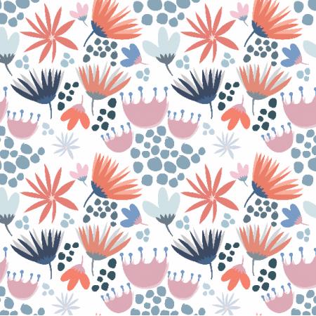 3363   Wiosenne kwiatki na białym