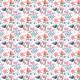 Fabric 3363 | Wiosenne kwiatki na białym