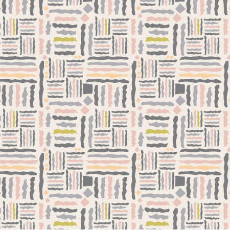 Fabric 3401 | tribal, light
