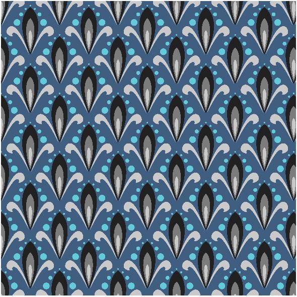 Fabric 3455 | ornamental pattern