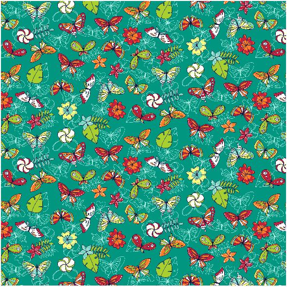 Tkanina 3602 | butterflies