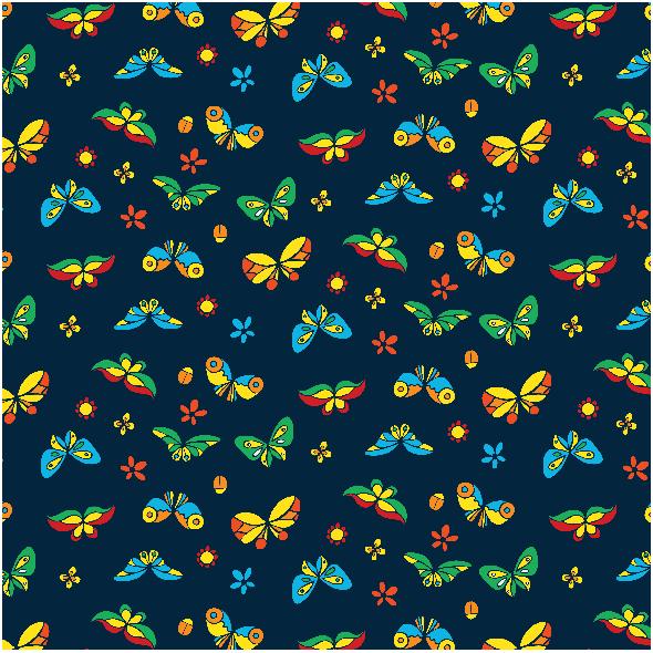 Tkanina 3603 | butterflies