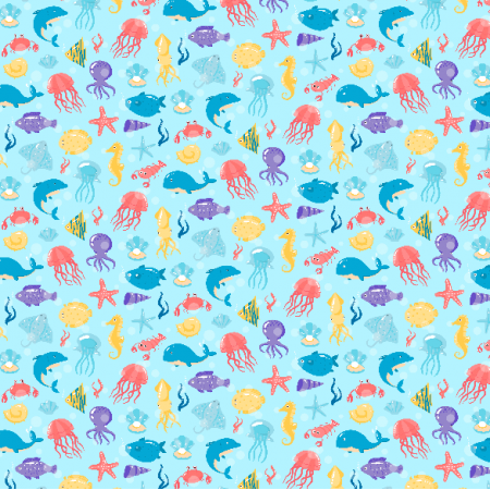 Fabric 3622 | underwater life