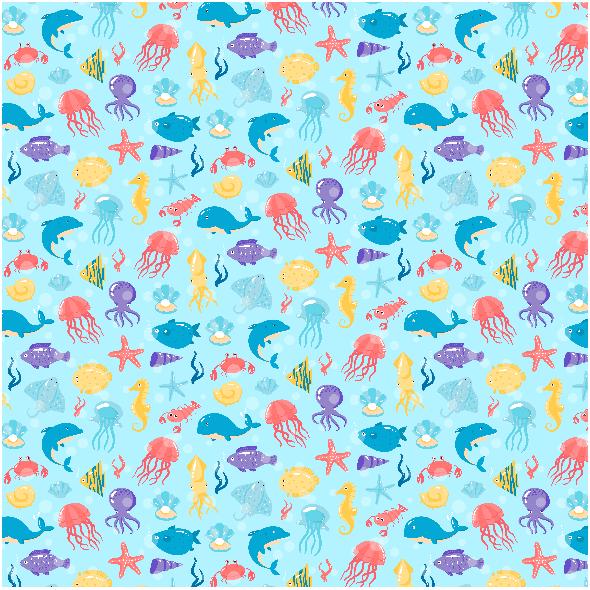 Tkanina 3622 | underwater life