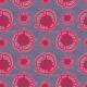Tkanina 3697 3 amarant w szarościach