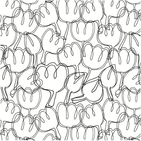Tkanina 3727 | Tulips