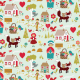 Fabric 3875 | little red in the forest