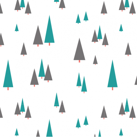 Fabric 3876 | forest trees, white