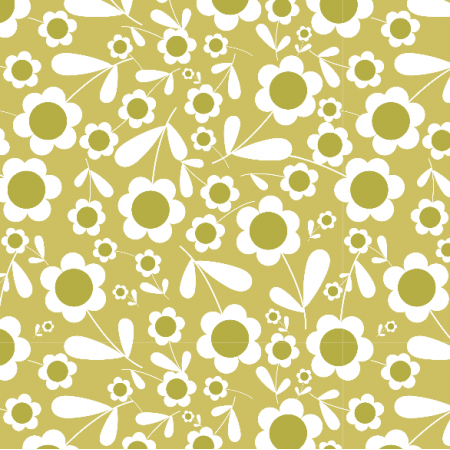 Fabric 3878 | forest flowers, green