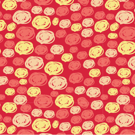 Fabric 3881 | forest pebbles, red