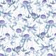 Tkanina 3979 | Koniczyny niebieskie