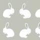 Tkanina 4296 | Rabbits