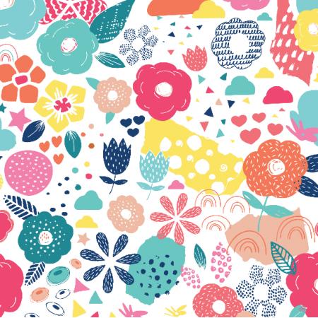 Fabric 4392 | pop art floral