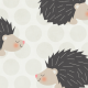 Tkanina 4394 | sweet hedgehog