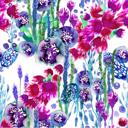 Tkanina 4411 | Botanic garden0