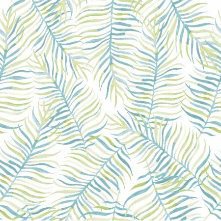 Tkanina 4512   liście tropikalne