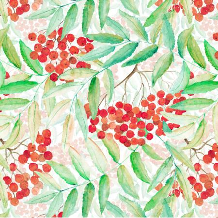 Fabric 4664 | gęstwina Jarzębina