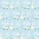 Tkanina 4668 | samolot w chmurach