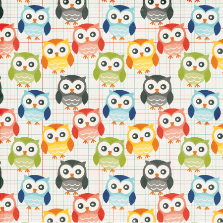 Fabric 4692 | hoo hoo school