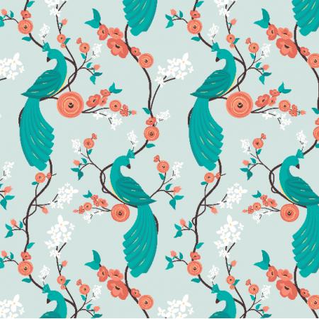 Fabric 4863 | Peacock garden