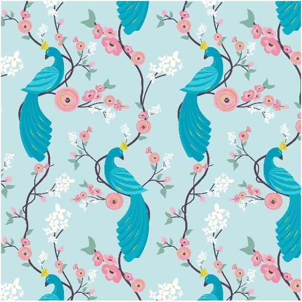 4865 | peacock garden - blue0