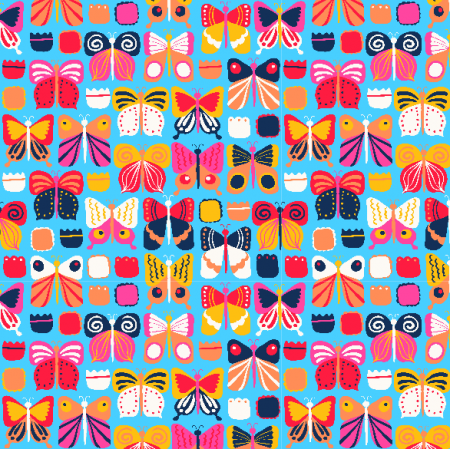 Tkanina 4958 | Butterflies