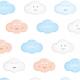 Fabric 5036 | wesołe chmurki