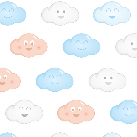 Tkanina 5036 | wesołe chmurki