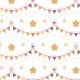 Tkanina 5037 | Gwiazdki, chorągiewki